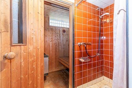 Bastu och dusch för den som så önskar