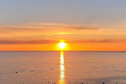 Solnedgång i havet går ju att vänja sig vid