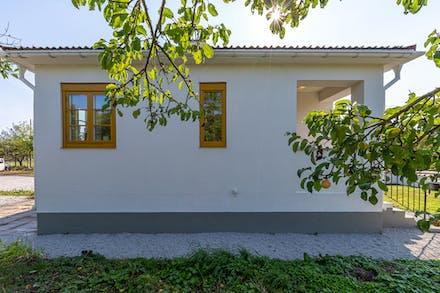 Huset har en spännande och annorlunda arkitektur.