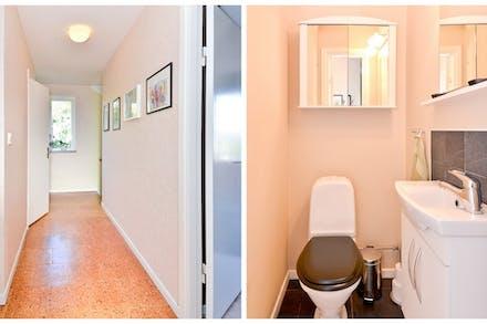 Separat toalett som nås från övre hall