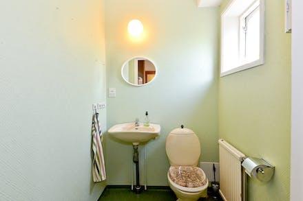 Här finns även separat toalett