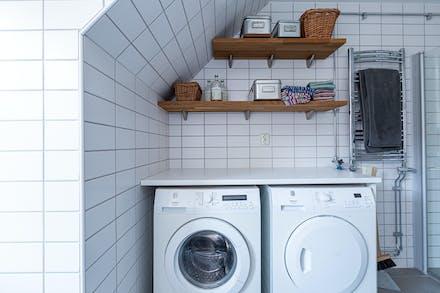 Skönt med egen tvättmöjlighet