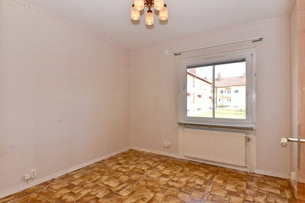 Även sovrummet ligger mot den lugna innergården
