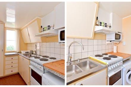 Köket sett från två håll