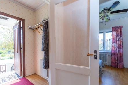 I hall/entré finns plats för ytterkläder