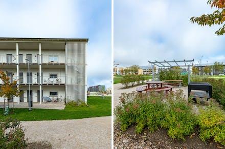 Mellanvåningen längst till höger samt bild från grillplats