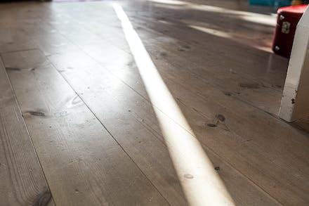 Trägolv i vardagsrummet