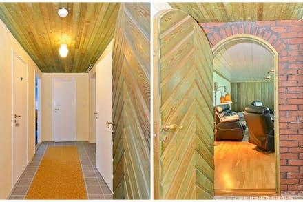 Tegelportal och källare med klinkergolv