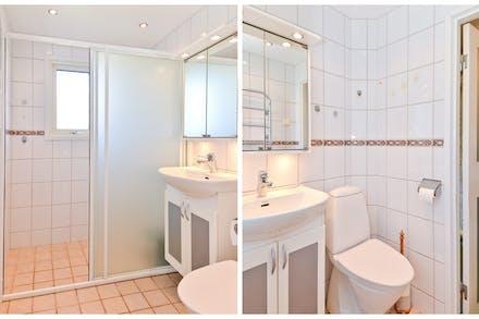 Badrum med wc / dusch