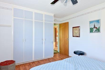 Sovrum 1 ur motsatt vinkel med förvaring