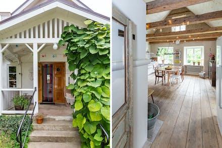 Vi lämnar den smakfulla interiören och tar oss ut på verandan