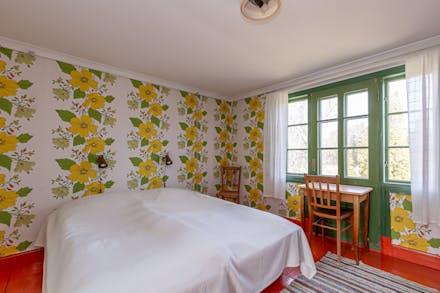 Sovrum 3, där det en gång i tiden funnits en balkong